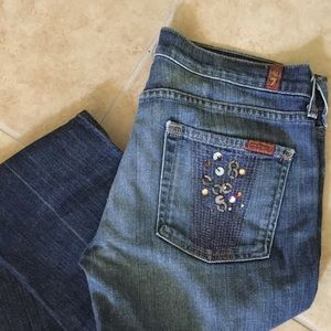 Rare 7 For All Mankind Straight Leg Jeans